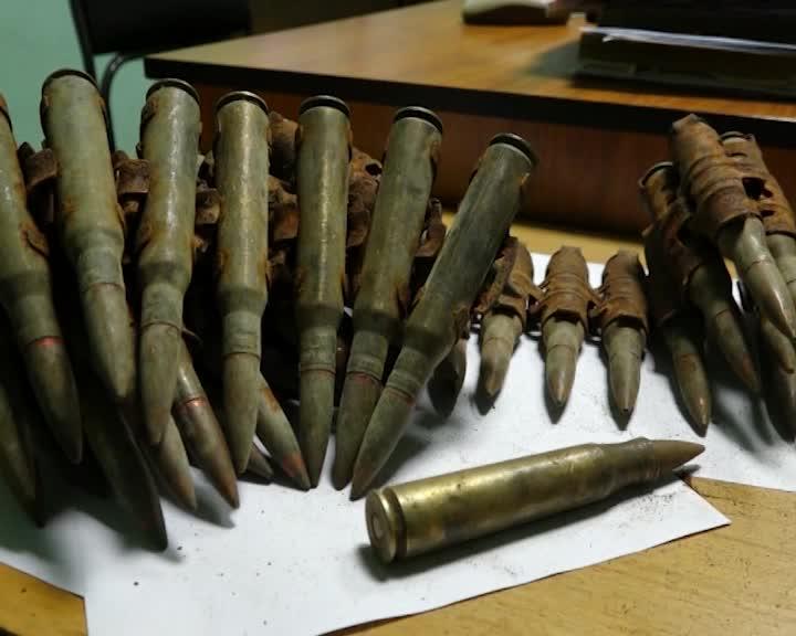 Костромич нашел в поле пулеметную ленту