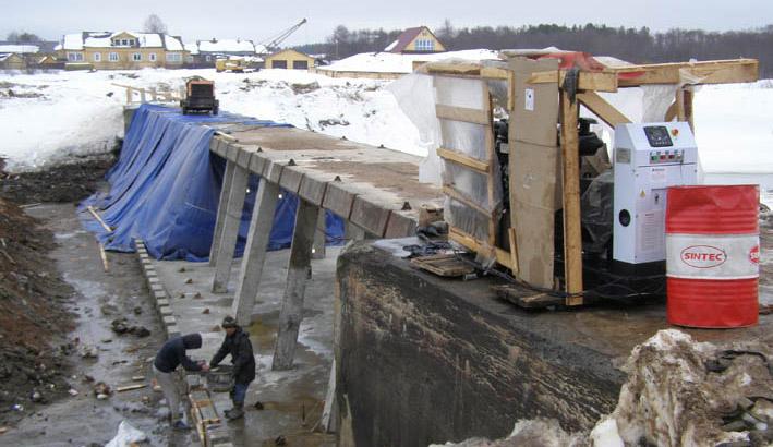 В городе Солигаличе Костромской области  капитально ремонтируют плотину