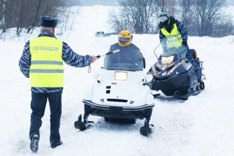 В Костромской области проверили владельцев снегоходов