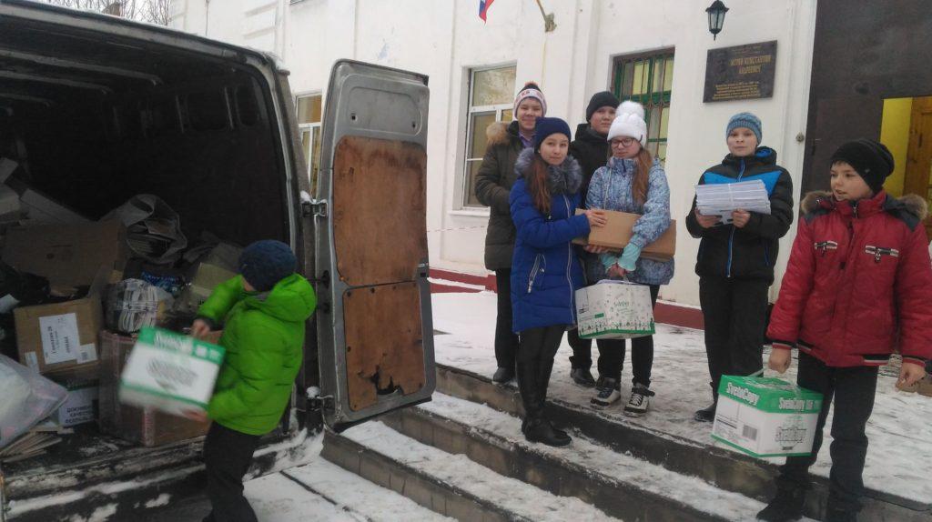 Сбор макулатуры объявили волонтеры молодежного центра в поселке Антропово Костромской области