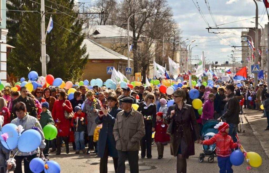 Центр Костромы перекроют на время Первомайского шествия