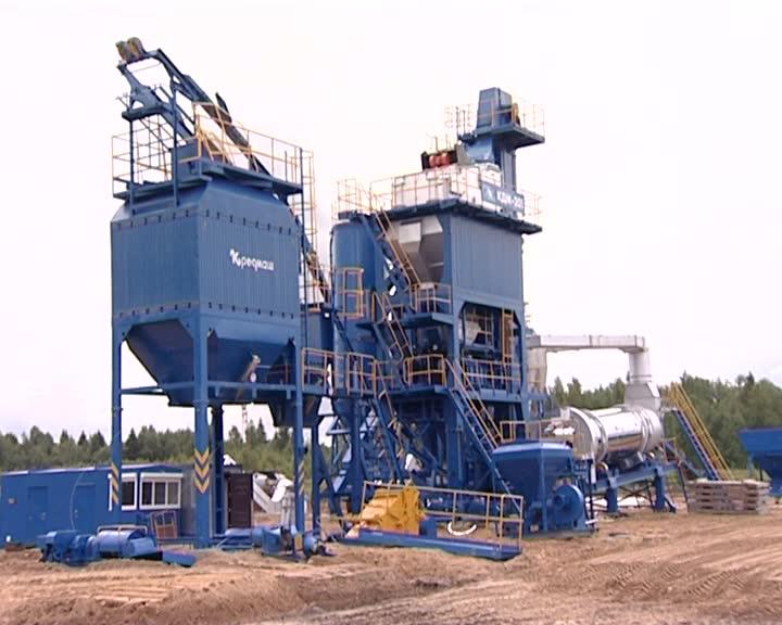 В п.Вохма Костромской области строят новый асфальтобетонный завод
