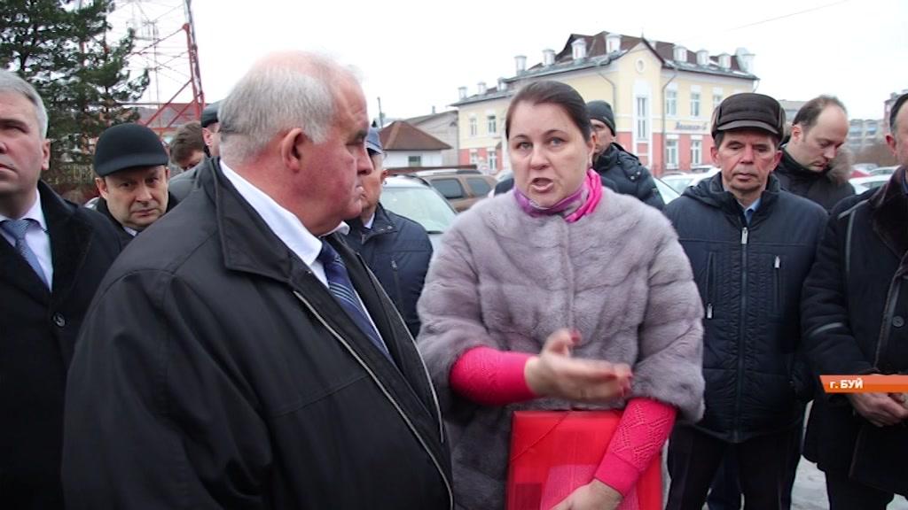 Вопросы социально-экономического развития обсуждаются во время рабочей поездки губернатора Костромской области в город Буй