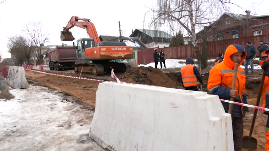 В Костроме продолжается ремонт на улице Красноармейской