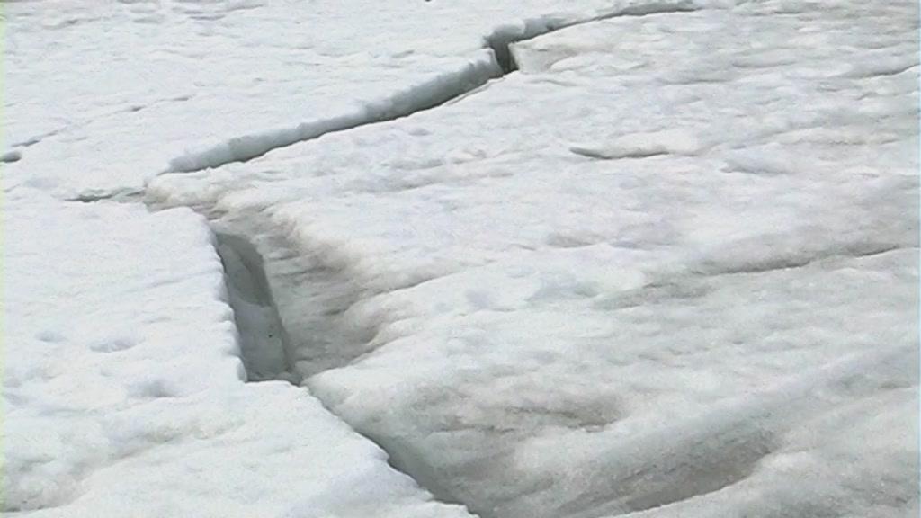 Толщина льда на водоемах Костромской области 27 февраля