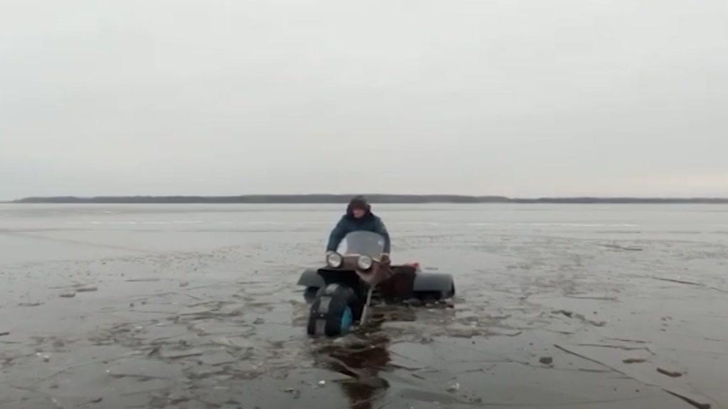 Толщина льда на водоемах Костромской области 28 февраля