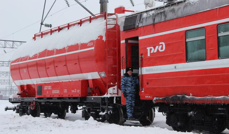Новый пожарный поезд заступил на дежурство на станции Буй, Костромской области