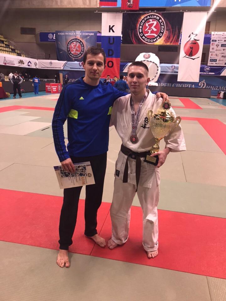 Костромской единоборец Даниил Токарь стал серебряным призером Чемпионата России по кудо среди мужчин