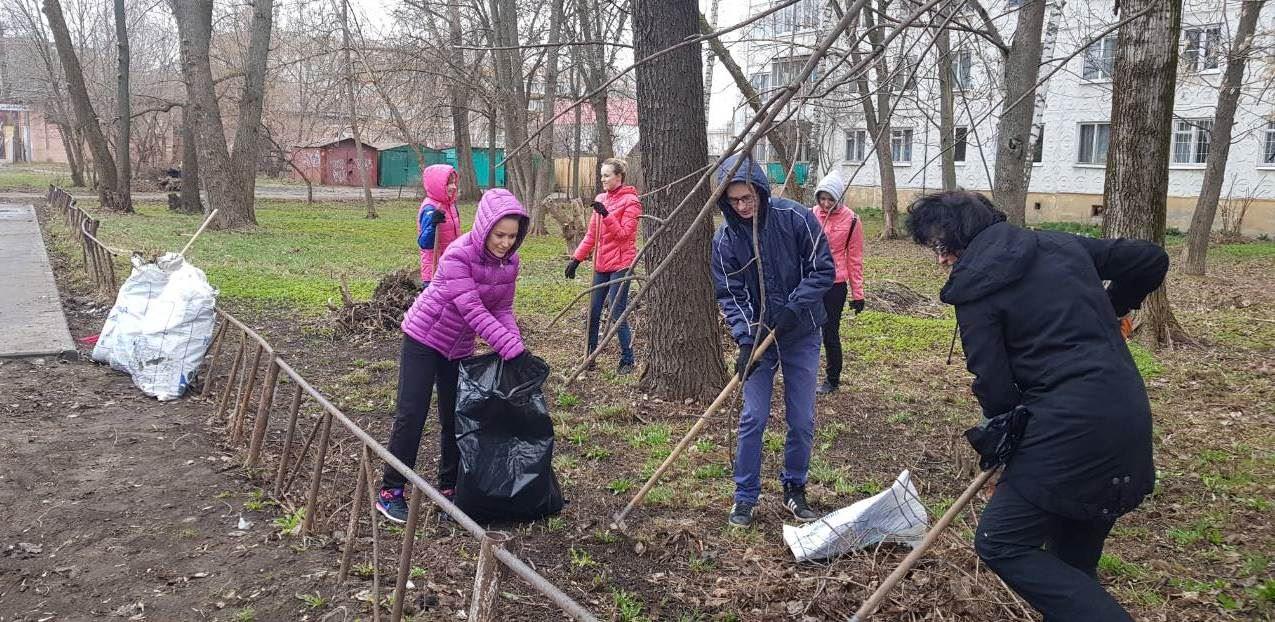В Костроме проходит общегородской субботник