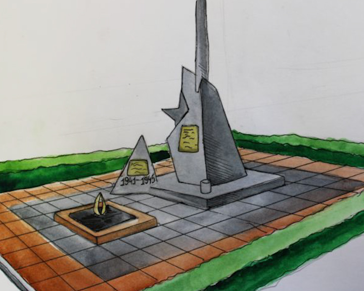 Коллектив Антроповской средней школы Костромской области решил благоустроить памятник «Учителям и ученикам, погибшим за Родину»