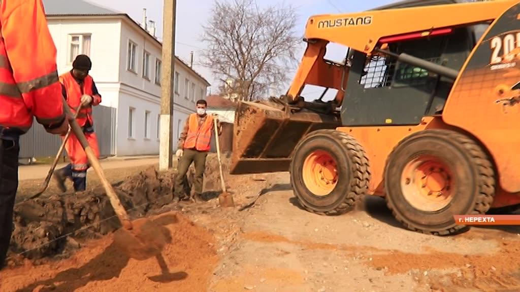 В г. Нерехта Костромской области капитально отремонтируют улицу Красноармейскую