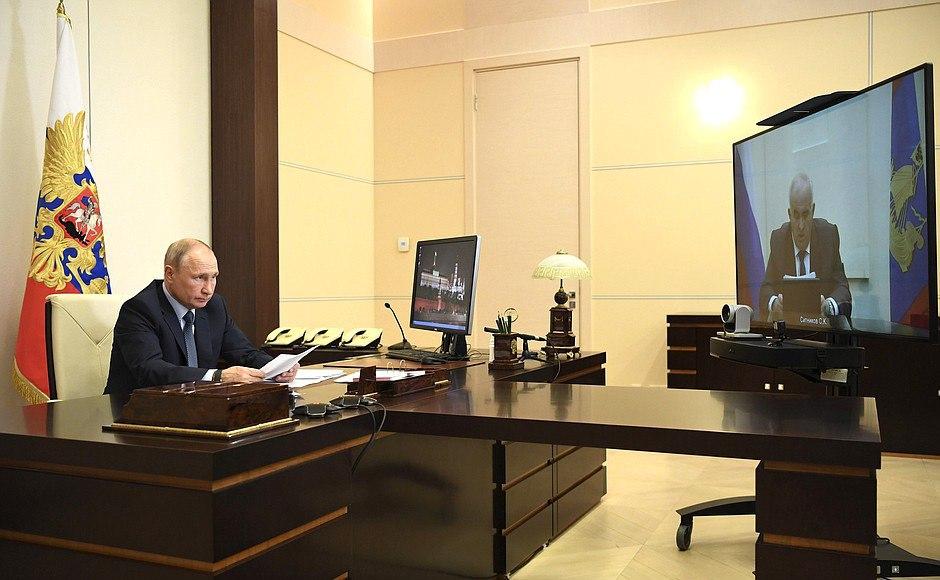 Рабочая встреча Президента Владимира Путина и губернатора Сергея Ситникова