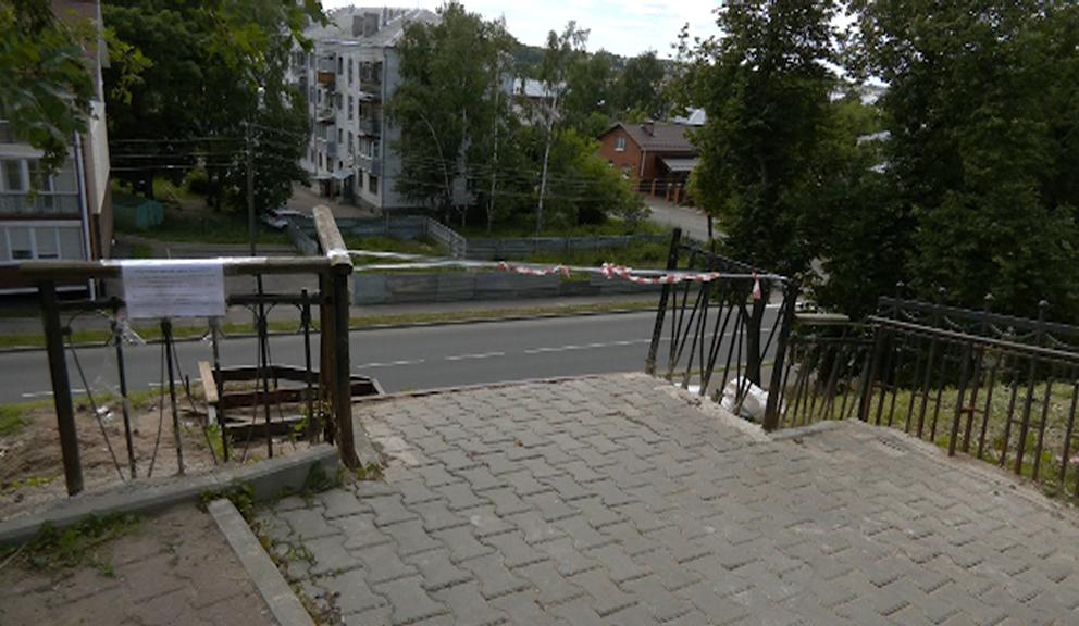 В Костроме на Муравьевке разобрали лестницу
