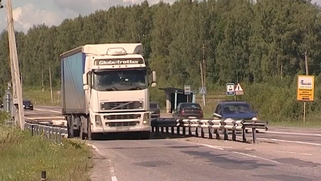 На въезде в Кострому установили мобильный пост весового контроля
