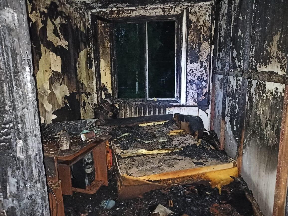 В Волгореченске во время пожара погибла женщина