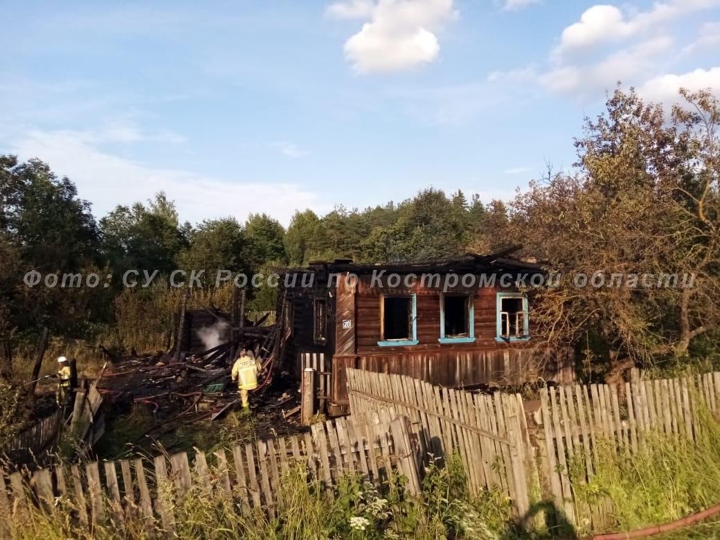 В Антроповском районе при пожаре погиб мужчина