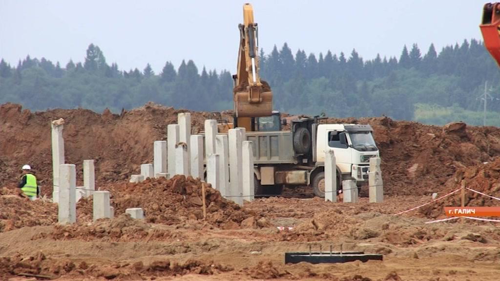 Строительство Галичского фанерного комбината переходит на новый этап
