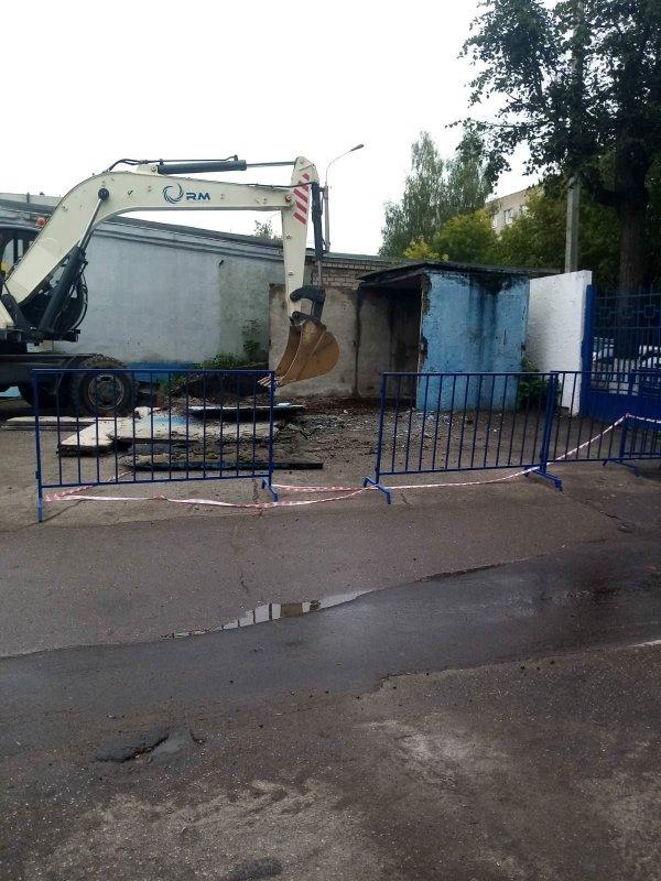 В Костроме сносят незаконные постройки