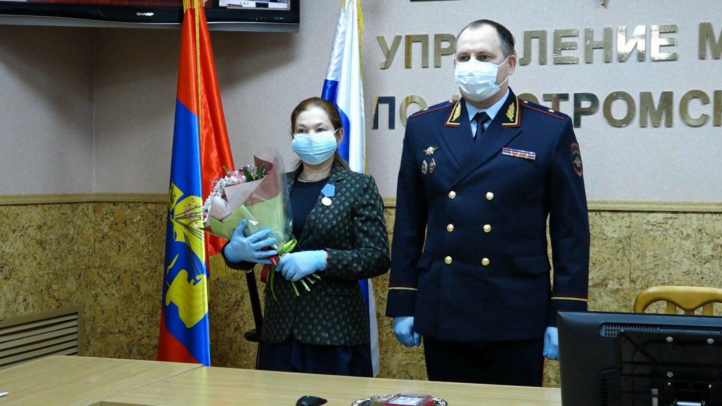 Костромичку наградили медалью МВД «За трудовую доблесть»