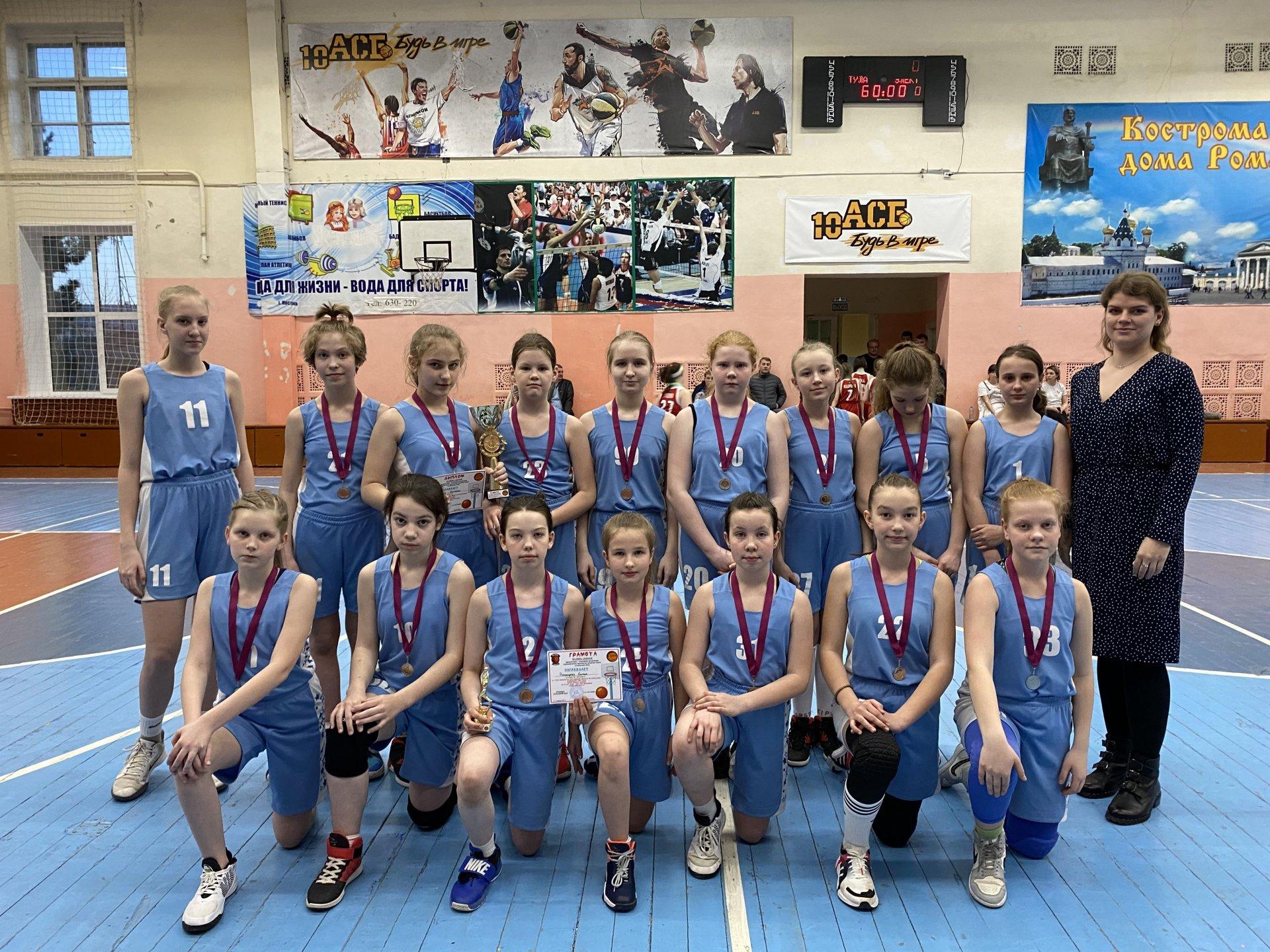 Костромские баскетболисты - серебряные призеры «Глобальной Лиги Kids»