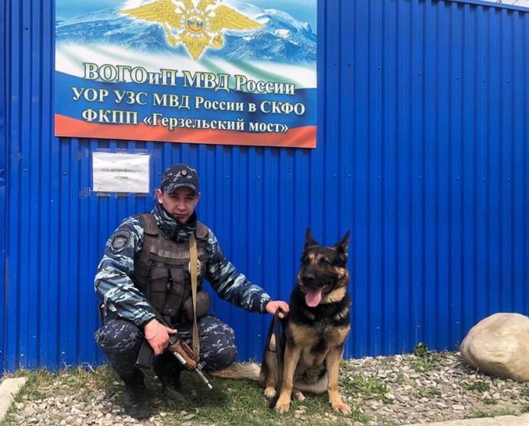 Сотрудники костромского сводного отряда на Северном Кавказе задержали наркокурьера.