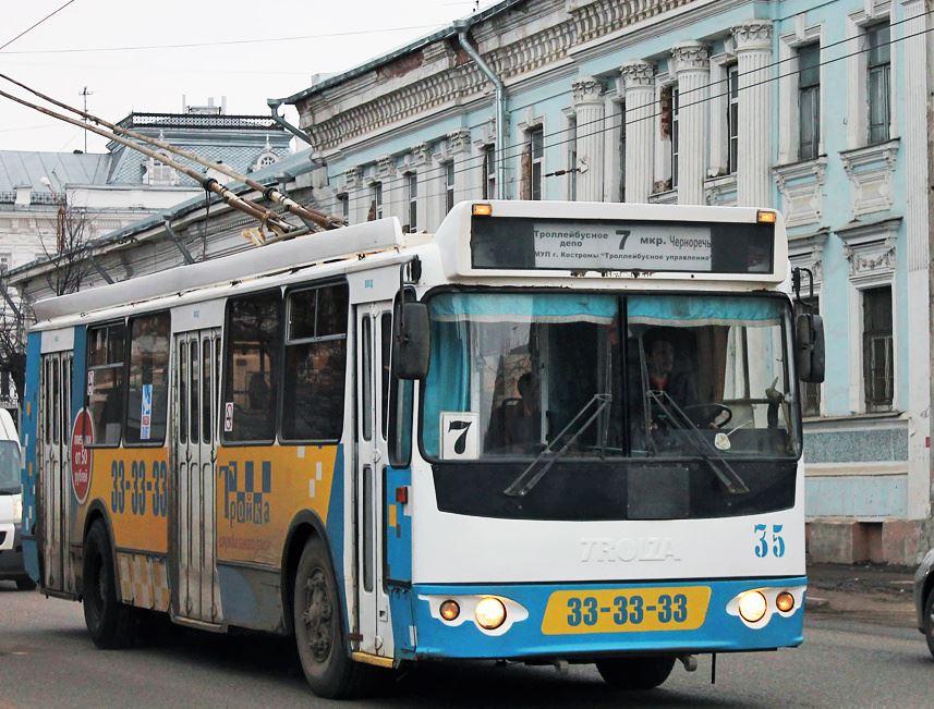Для костромских автобусов и троллейбусов наступило лето