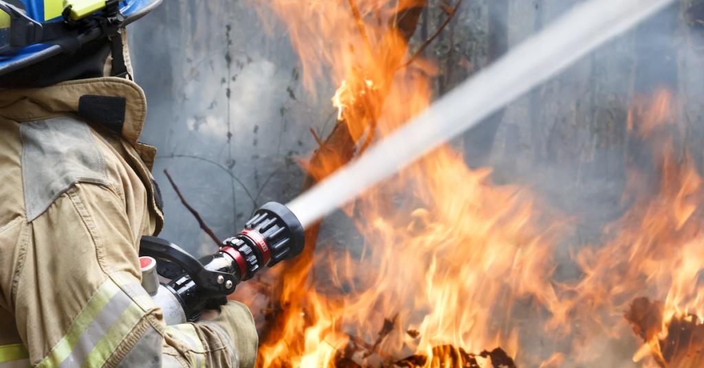 В Парфеньевском районе приступили к тушению лесного пожара