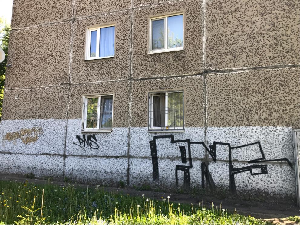 Костромичи могут сообщить о незаконных надписях на фасадах