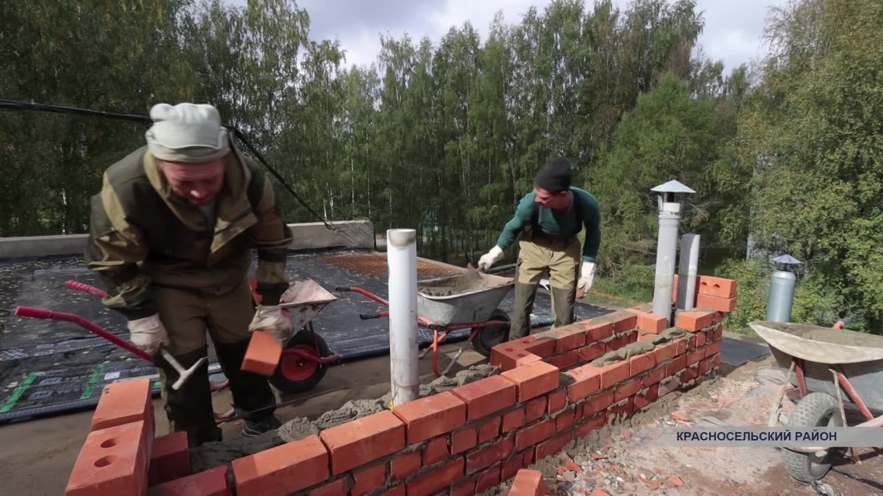 В доме №1 посёлка Молодёжный Красносельского района начался долгожданный ремонт
