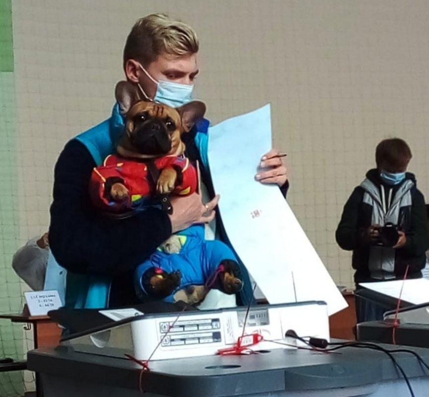 Неразлучные друзья: жители Костромской области приходят на голосование даже с домашними питомцами