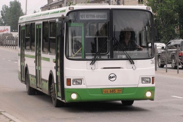 Автобусы под номерами 101 в Костроме следует по продленному маршруту