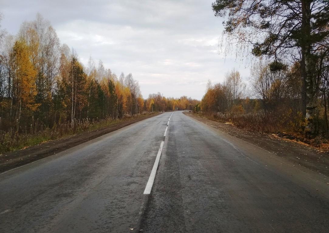 В Макарьевском районе дорожники привели в порядок еще один  участок автотрассы