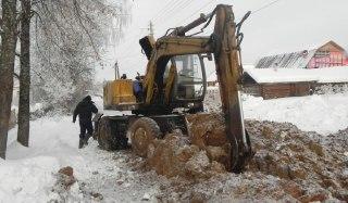 В Вохме полным ходом идёт реконструкция водопровода