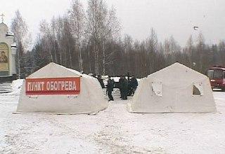 В связи с сильным снегопадом на трассах в Костромской области организованы пункты обогрева
