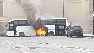 Костромские  школьники не пострадали в загоревшемся автобусе в Санкт-Петербурге