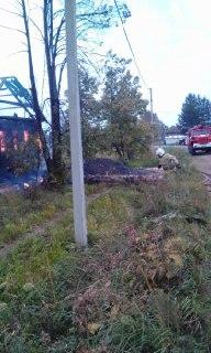 В Костромской области при пожаре пострадала многодетная семья