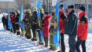 В Костроме прошел флешмоб, посвященный 100-летию Советской пожарной охраны